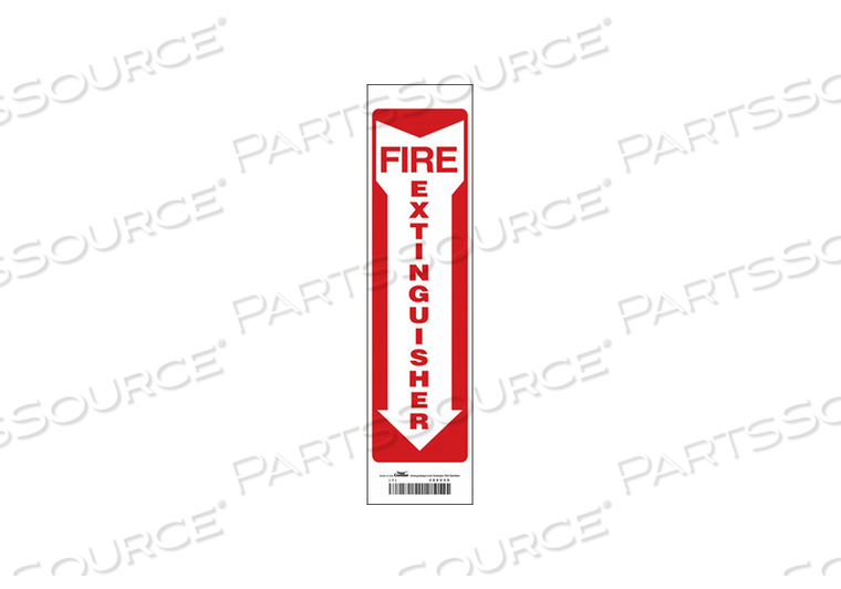 SAFETY SIGN 3-1/2 W 14 H 0.004 THICK by Condor