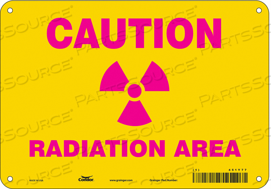 RADIATION SAFETY SIGN FIBERGLASS 7 H by Condor