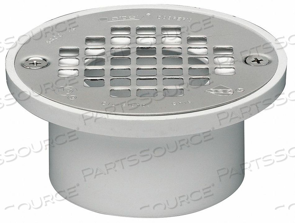 DRAIN 4 IN DIA WHITE PVC FITS 2 OR 3 IN by Oatey