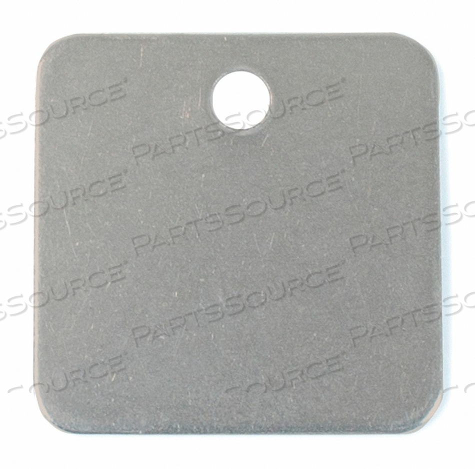 BLANK TAG SQUARE STEEL PK10 by C.H. Hanson