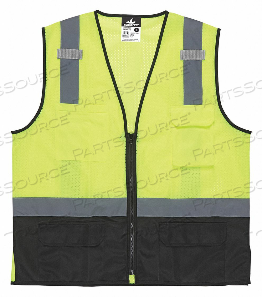 HIGH VISIBILITY VEST XL SIZE UNISEX by MCR Safety