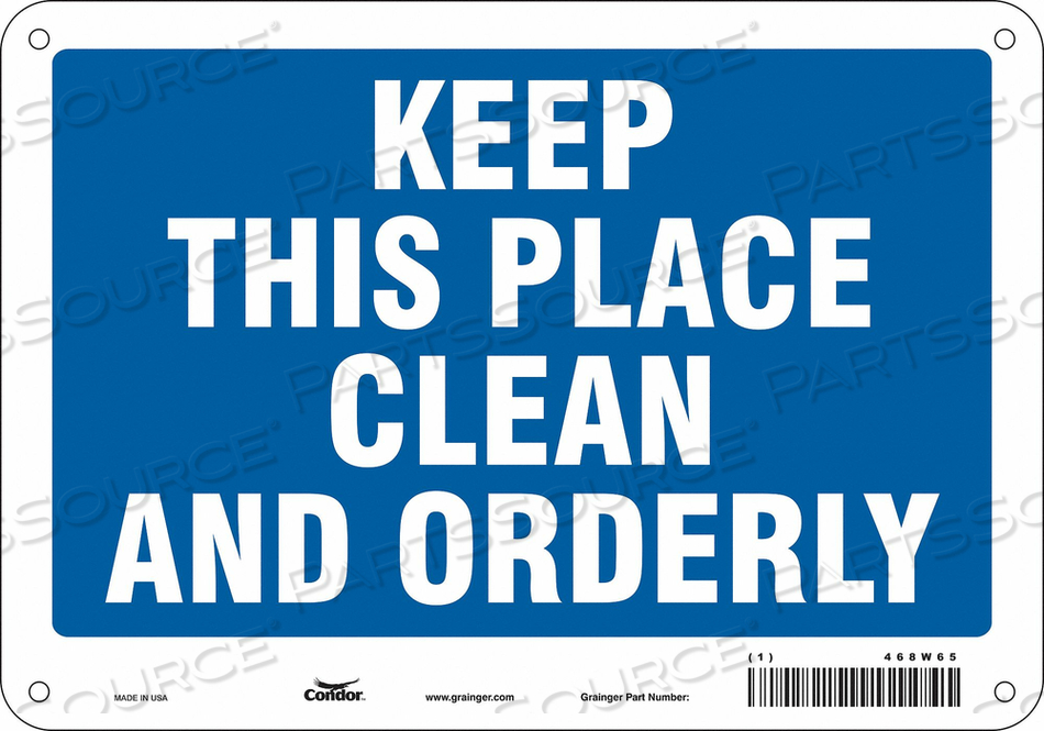 J7010 SAFETY SIGN 10 7 0.06 THICKNESS by Condor