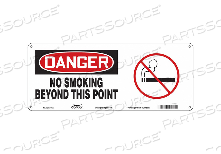 SAFETY SIGN 17 W 7 H 0.004 THICKNESS by Condor