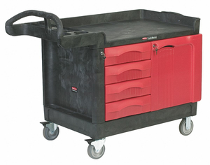 TRADE CART/SERVICE BENCH 49 IN L BLACK by Rubbermaid Medical Division