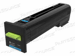 LEXMARK - EXTRA HIGH YIELD - CYAN - ORIGINAL - TONER CARTRIDGE LCCP - FOR LEXMARK CX825DE, CX825DTE, CX825DTFE by Lexmark