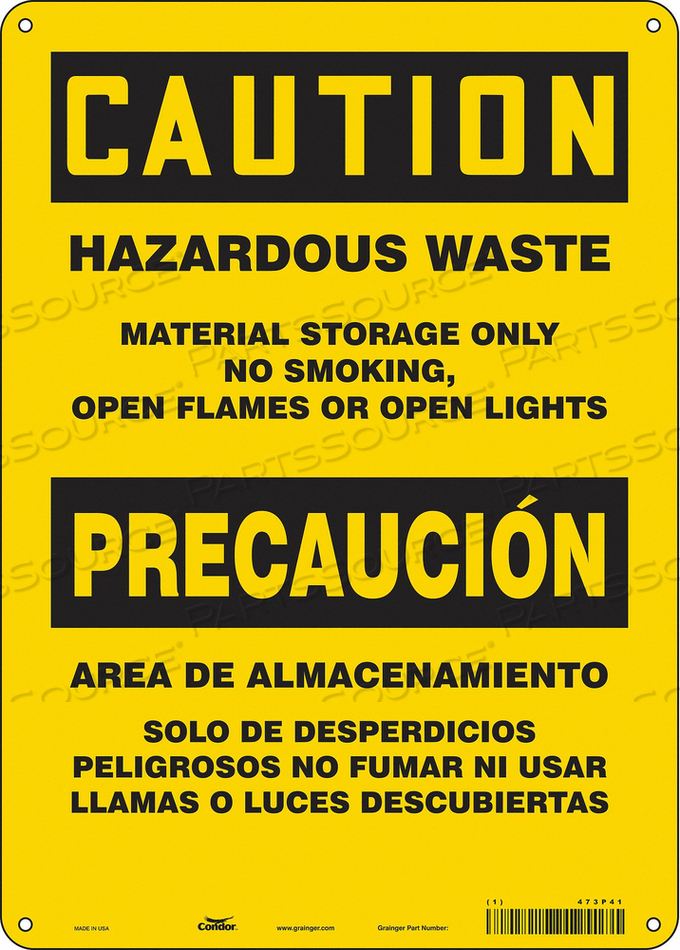 NO SMOKING SIGN 10 WX14 H 0.032 THICK by Condor