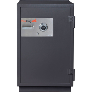 2 HR FIRE RESISTANT SAFE 25-1/2 X 28-7/8 X 41-1/8 ELECTRONIC, KEY LOCK GRAPHITE by Fire King