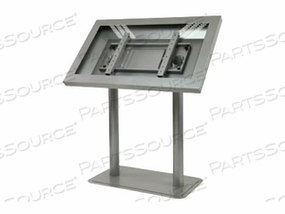 "PEERLESS PEERCARE LANDSCAPE KIOSK ENCLOSURE WITH ANTIMICROBIAL FINISH KL546-AB - STAND FOR LCD DISPLAY - BLACK POWDER COAT - SCREEN SIZE: 46"" - FLOOR-STANDING"