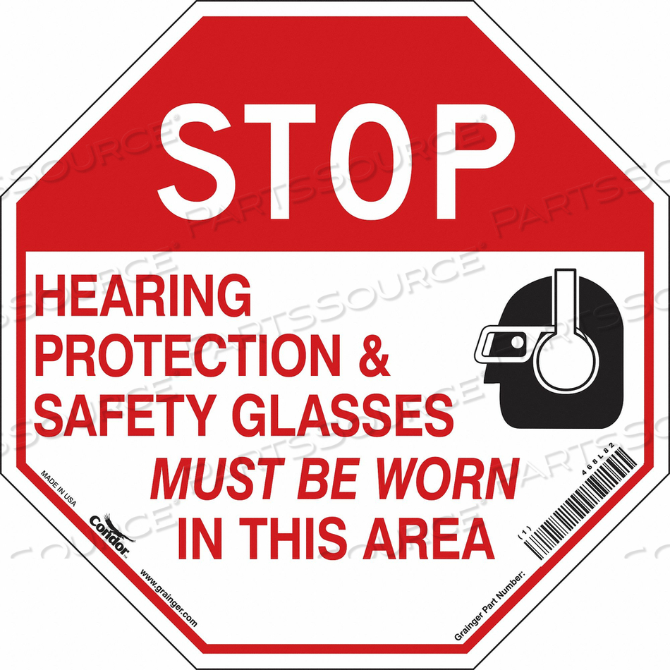 SAFETY SIGN 18 WX18 H 0.004 THICKNESS by Condor