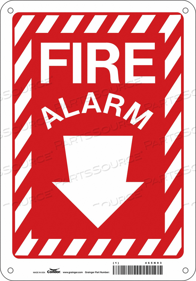 SAFETY SIGN 5 WX14 H 0.004 THICKNESS by Condor