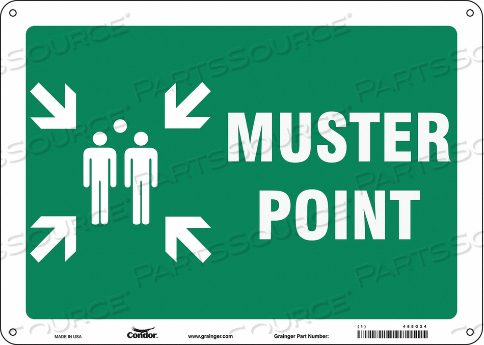 SAFETY SIGN 14 WX10 H 0.060 THICK by Condor
