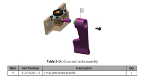 CROSS ARM BRAKE HANDLE FOR 9800 by OEC Medical Systems (GE Healthcare)