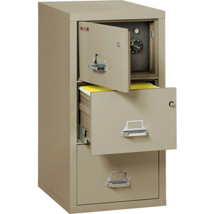 """FIREPROOF 3 DRAWER VERTICAL SAFE-IN-FILE LEGAL 20-13/16""""WX31-9/16""""DX40-1/4""""H PEWTER by Fire King"""