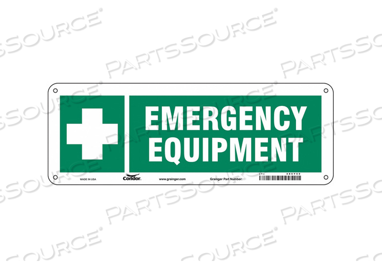 FIRST AID SIGN 14 W 5 H 0.032 THICKNESS by Condor