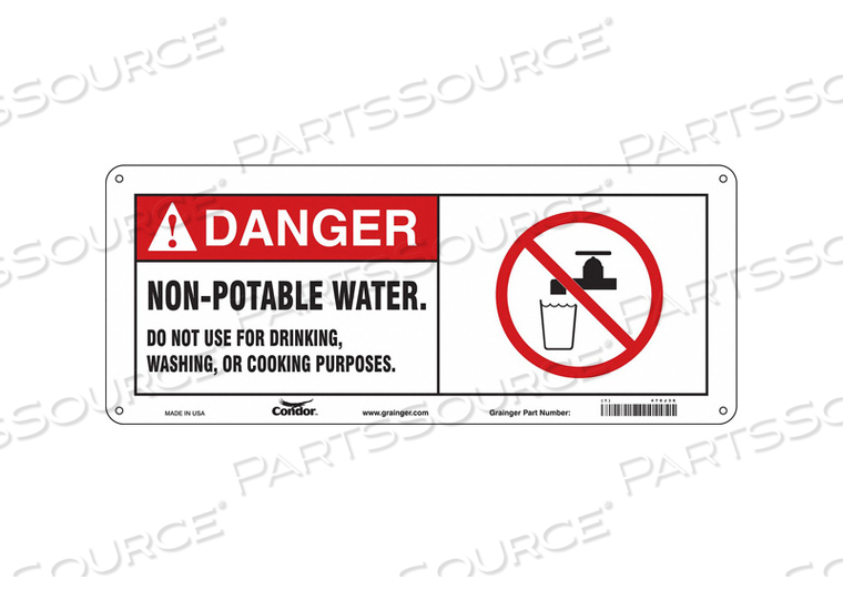 SAFETY SIGN 17 W X 7 H 0.060 THICK by Condor