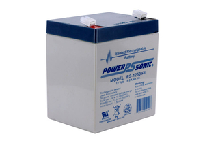 BATTERY, SEALED LEAD ACID, 12V, 5 AH by Power Sonic