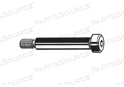 SHOULDER SCREW KNURLED HEX SOCKET PK135 by Fabory