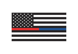 US THIN RED AND BLUE LINE FLAG 3FT X 5FT by Annin Flagmakers