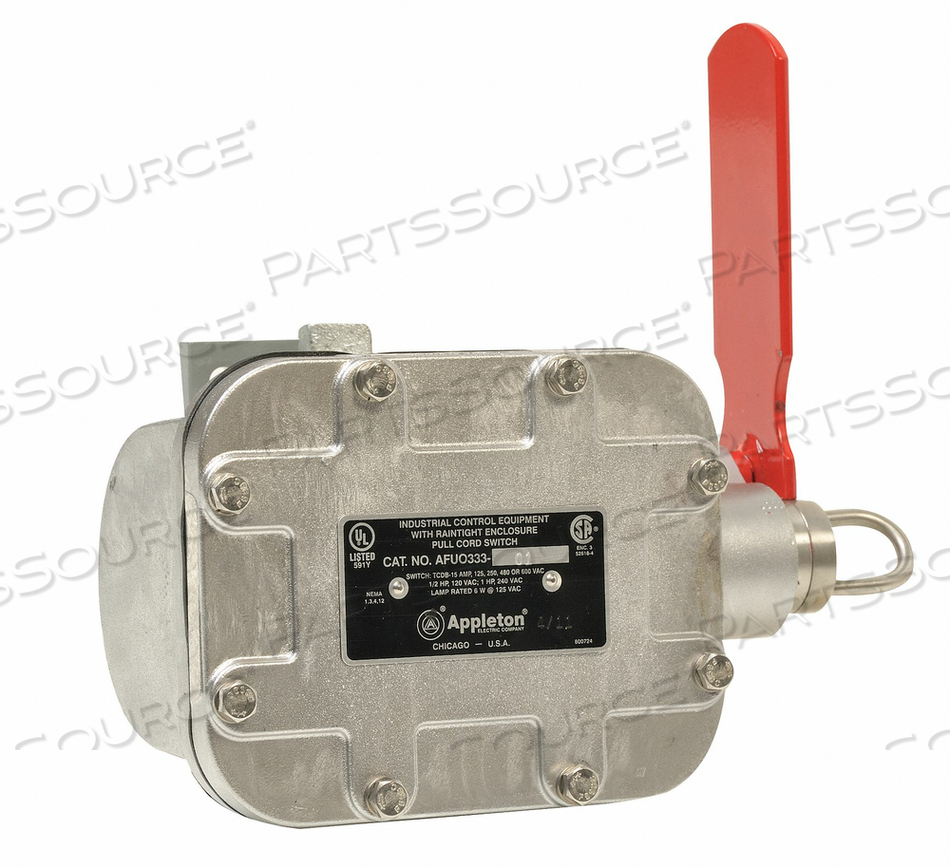 CABLE PULL SWITCH 20A LEFT 25 LBS. SPDT by Appleton Electric