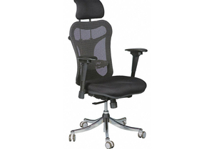 EXEC CHAIR FABRIC BLACK 17-20 SEAT HT by Balt
