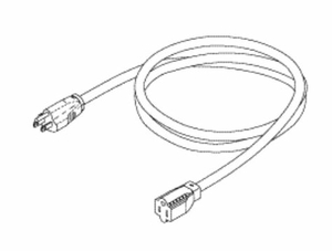 12FT 14 AWG NEMA 5-15P - 5-15R HOSPITAL GRADE POWER EXTENSION CORD - GREY by Replacement Parts Industries (RPI)