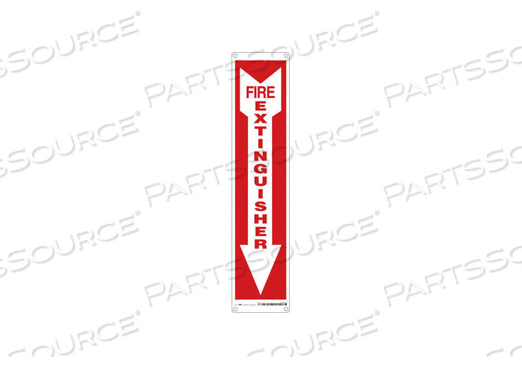 J7050 SAFETY SIGN 4 W 18 H 0.055 THICKNESS by Condor