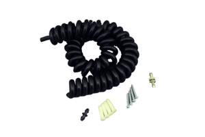 8FT SPHYGMOMANOMETER COILED TUBE WITH CONNECTOR - BLACK by Medline Industries, Inc.