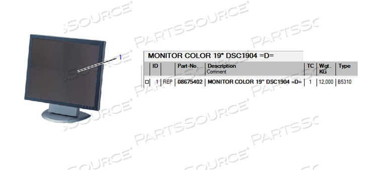 COLOR MONITOR, 19 IN