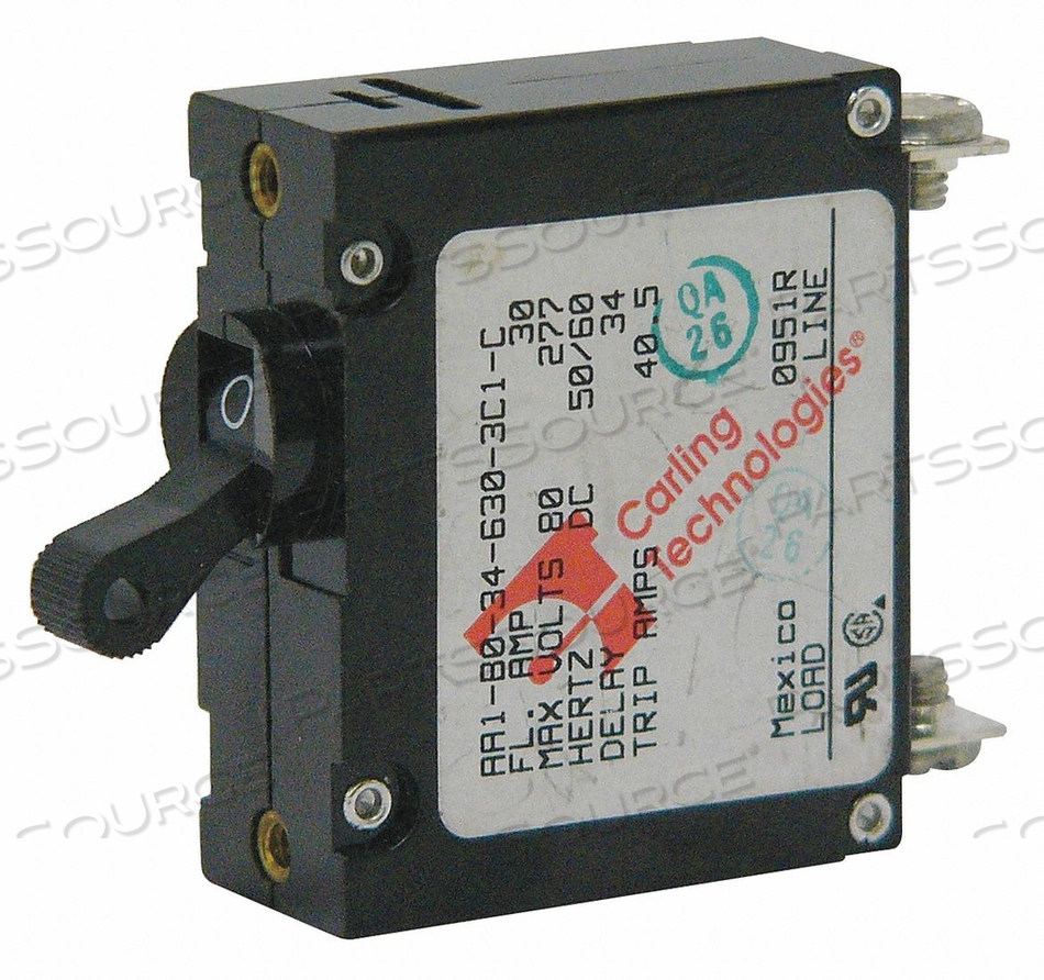 CIRCUIT BREAKER 30A MAGNETIC 250VAC by Carling Technologies