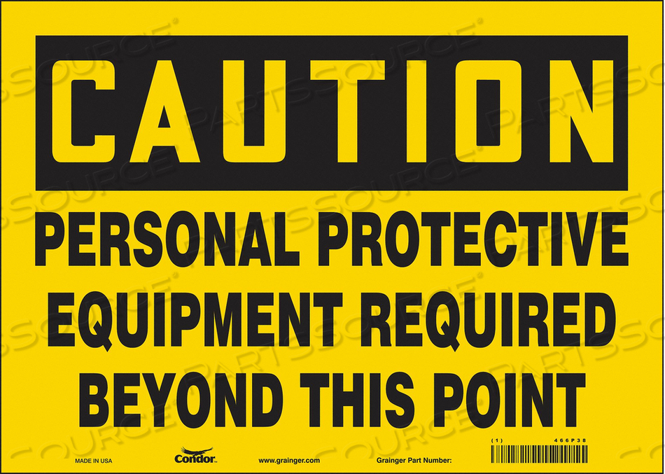 J6965 SAFETY SIGN 10 H 10 W VINYL by Condor