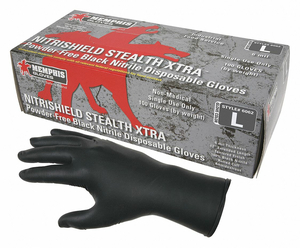 DISPOSABLE GLOVES NITRILE 2XL PK100 by MCR Safety