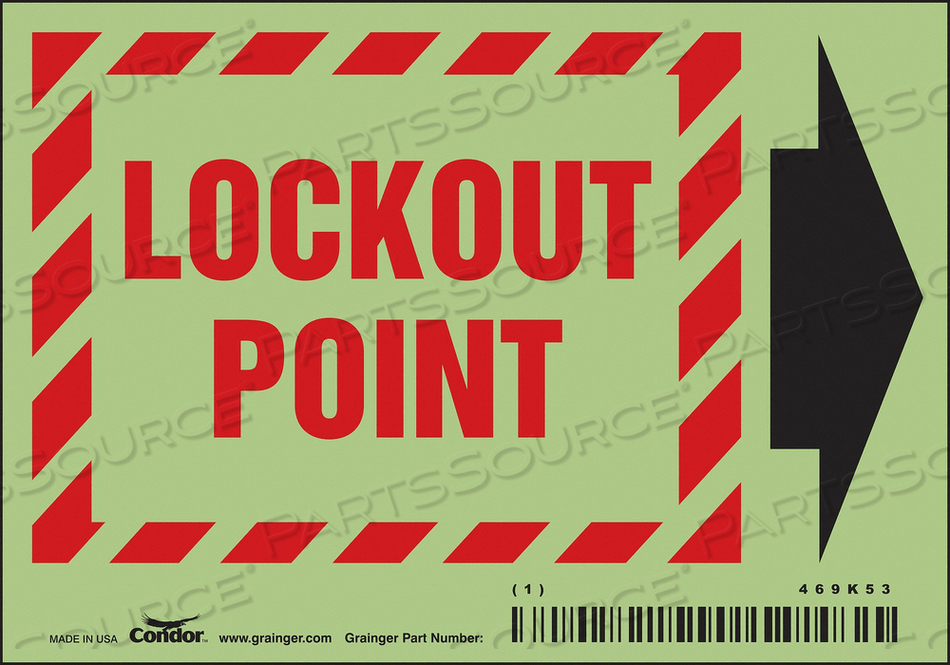 SAFETY SIGN 3-1/2 X 5 0.050 THICK PK5 by Condor