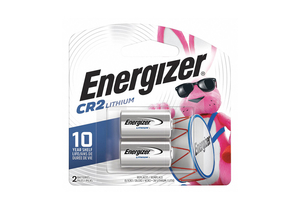 BATTERY, CR2, LITHIUM, 3V, 800 MAH (PACK OF 2) by Energizer