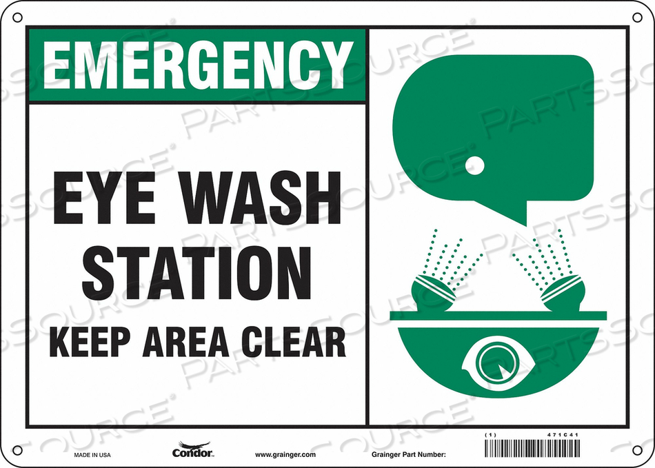 J6977 SAFETY SIGN 14 W X 10 H 0.060 THICK by Condor