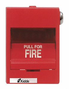 FIRE ALARM PULL STATION RED 3-3/8 D by Kidde