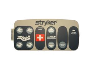 DMS OUTER LEFT LABEL W/NURSE CALL, GATCH/FOWLER by Stryker Medical