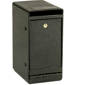 "UNDER DEPOSITORY DROP BOX KEYED LOCK 6""W X 8""D X 12""H BLACK by Fire King"