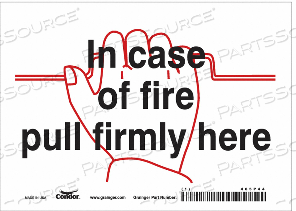 SAFETY SIGN 7 W X 5 H 0.004 THICKNESS by Condor