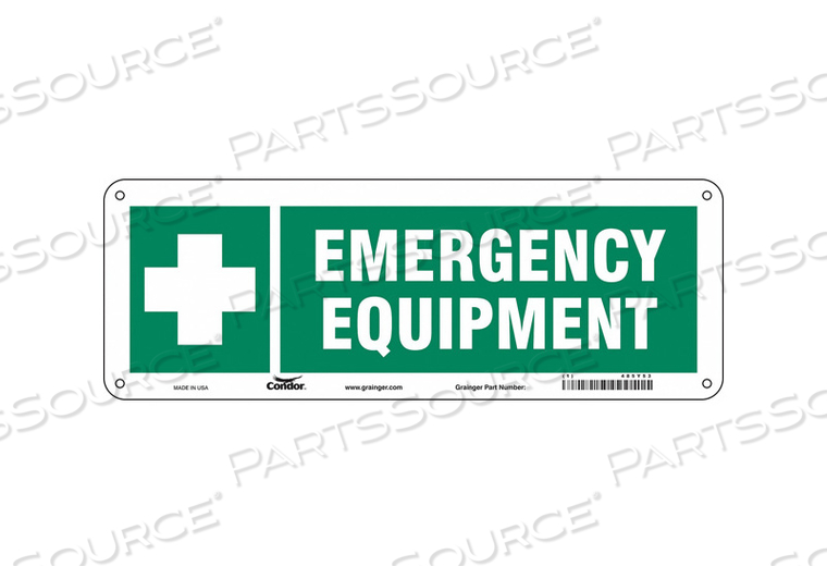 FIRST AID SIGN 14 W 5 H 0.055 THICKNESS by Condor