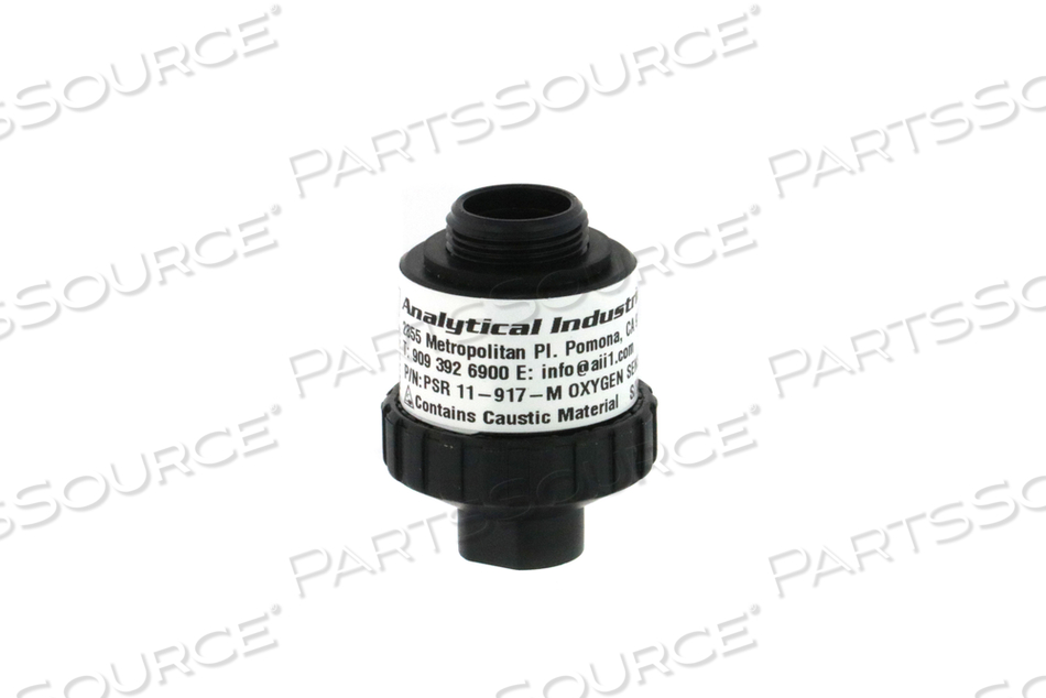 OXYGEN CELL SENSOR, 1.26 IN DIA, 3 PIN MALE MATING, 0 TO 100%, WHITE, 13 TO 16 MV SIGNAL OUTPUT, 700 TO 1250 MBAR PRESSURE, 3 PINS, 13 SEC RESPON by Analytical Industries Inc. (AII)