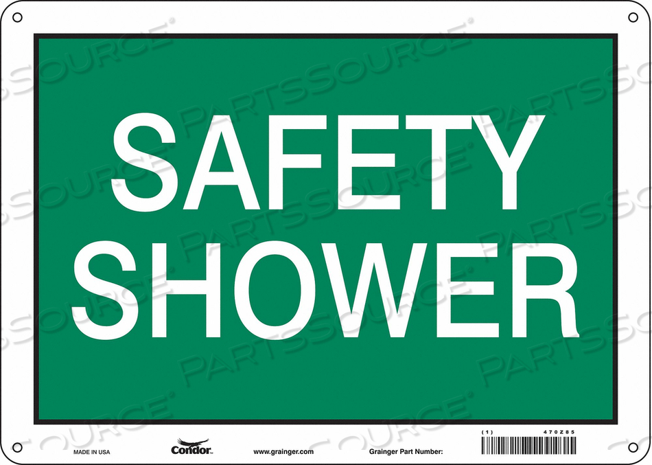 J7004 SAFETY SIGN 14 W X 10 H 0.055 THICK by Condor