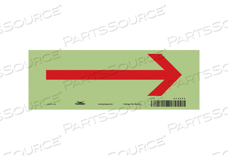 SAFETY SIGN 10 W 3-1/2 H 0.010 THICK by Condor