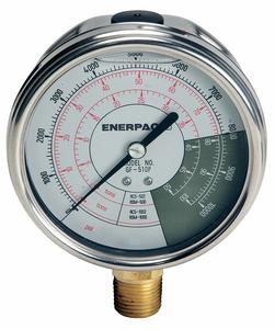 PRESSURE GAUGE 0 TO 10000 PSI 4IN 1/2IN by Enerpac