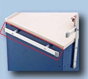 BLUE BELL MEDICAL USRN-2 UNIVERSAL SIDE RAIL/HANDLE,24INH X 6INL G9413257 by Blue Bell Bio-Medical