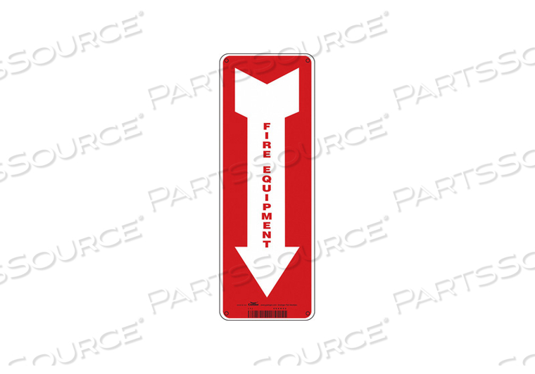 SAFETY SIGN 5 W 14 H 0.032 THICKNESS by Condor