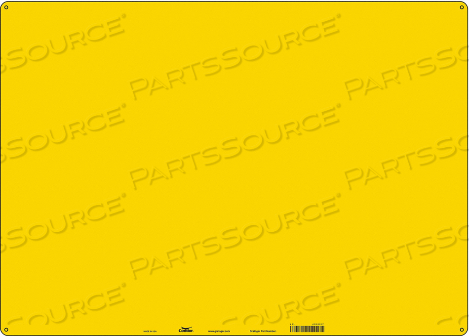 SAFETY SIGN 28 W 20 H 0.060 THICKNESS by Condor