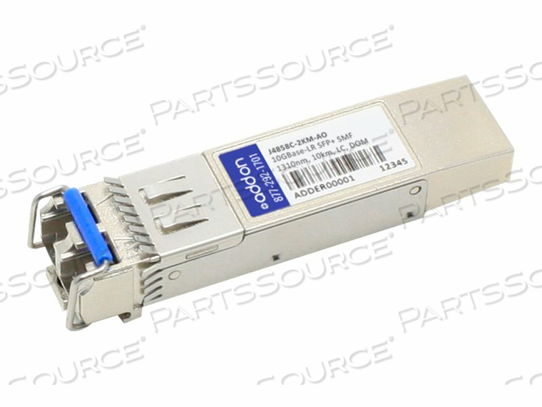 ADDON - SFP+ TRANSCEIVER MODULE (EQUIVALENT TO: HP J4858C-2KM) - 10 GIGE - 10GBASE-LR - LC SINGLE-MODE - UP TO 6.2 MILES - 1310 NM - TAA COMPLIANT - FOR HPE 1700, 2610, 6120, SWITCH XL 10/100/1000, HPE ARUBA 2530, 2930F 24, 2930F 48, 5406