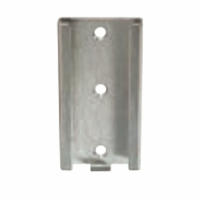 DISPOSABLE BOTTLE BRACKET, STAINLESS STEEL, SLIDE WALL MOUNTING by Ohio Medical, LLC