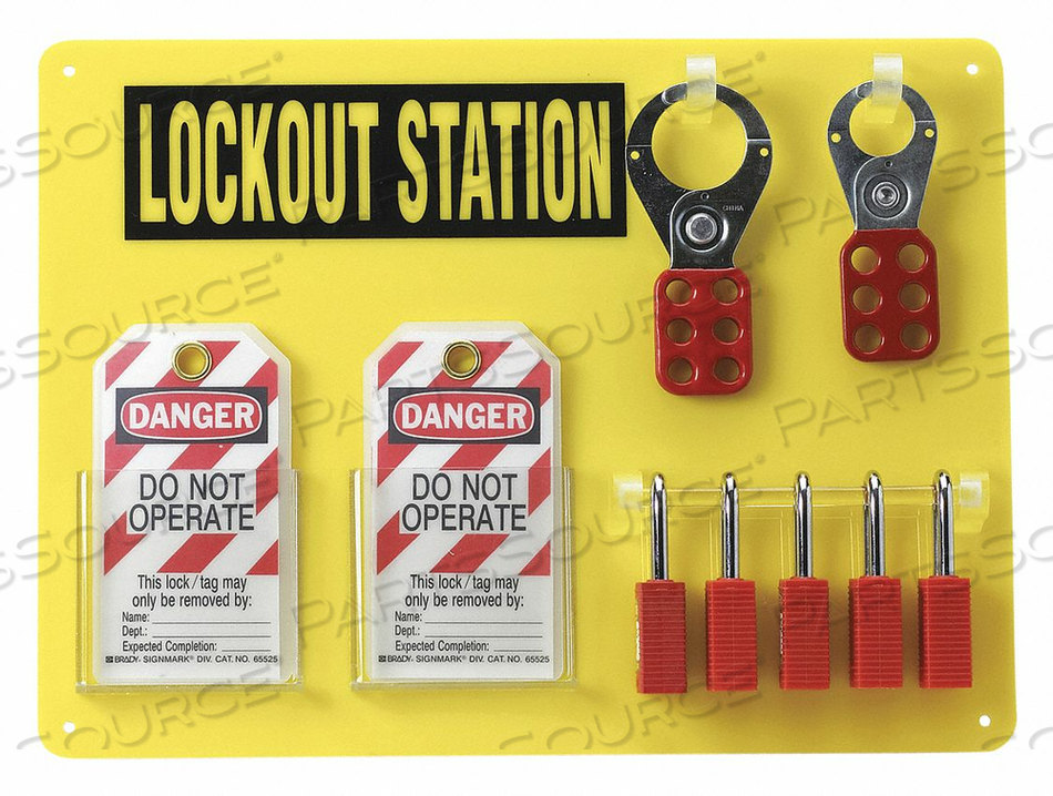 LOCKOUT STATION BLACK/YELLOW 14 H by Condor
