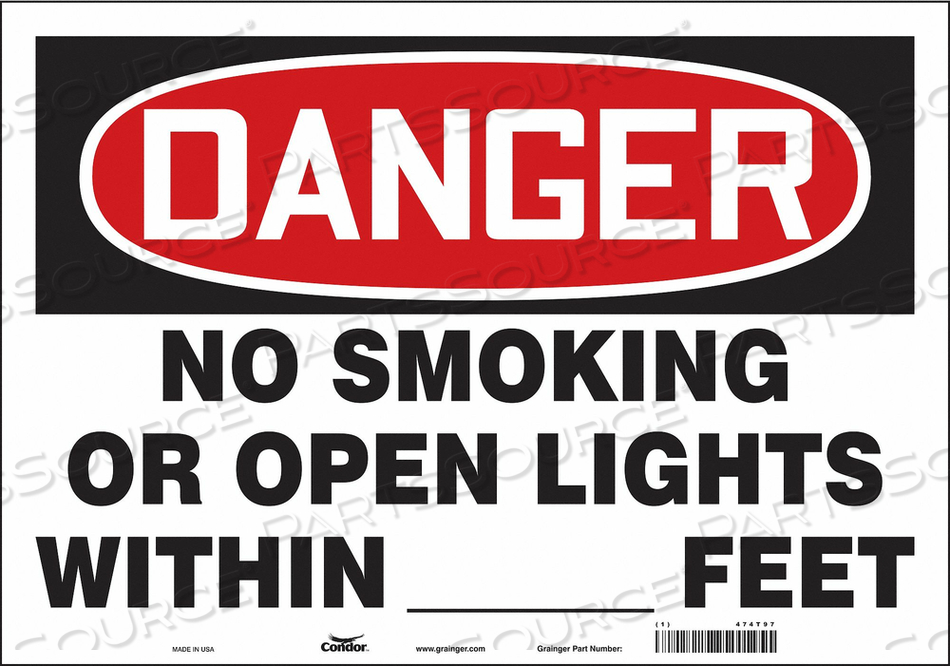 SAFETY SIGN 20 W 14 H 0.004 THICKNESS by Condor